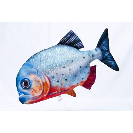 GABY Roter Piranha Kissen, Länge ca. 47 cm