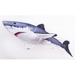 GABY Weißer Hai Mini Kissen, Länge ca. 53 cm
